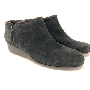 Cole Haan suede black ankle boots 8.5